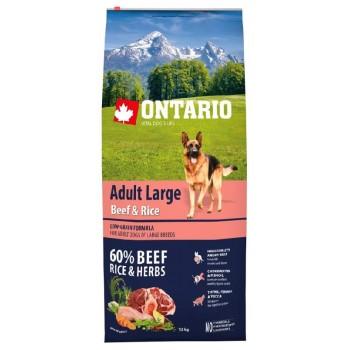 Ontario / Онтарио для собак крупных пород с говядиной и рисом 12 кг