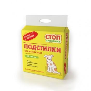 СТОП-ПРОБЛЕМА подстилки гелевые 40х60 см (5+1 штука в подарок)