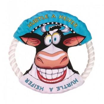 Kitty City Малое летающее кольцо «Бодрая корова» FATCAT (Mini dog toy ring 665044)