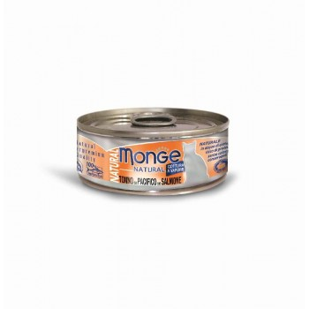 Monge / Монж Cat Natural консервы для кошек тихоокеанский тунец с лососем 80г