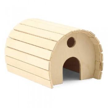 Gamma / Гамма Домик цилиндрический для мелких животных деревянный, 115*150*100мм
