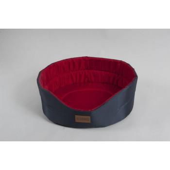 Katsu / Катсу CLASSIC SHINE 70х62х25 см лежак для животных серо-красный