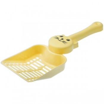 """ZooOne Совок с отверстиями для кошачьего туалета """"Кэт"""" 24,5*9,2*4,5 см (жёлтый)"""