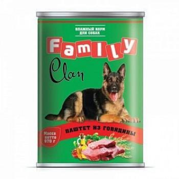 Clan / Клан Family консервы д/собак паштет из говядины, 0,97 кг
