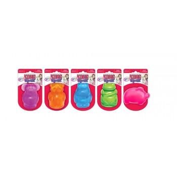 Kong / Конг игрушка для собак Сквиз Джелс средняя (медведь, бегемот, слон, свинка, лягушка)