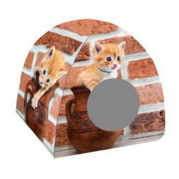 PERSEILINE Дом ДИЗАЙН ВИГВАМ 40*40*39 Кошка в кувшине (00245/ДМД-3)