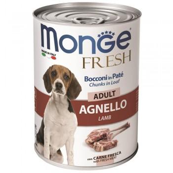 Monge / Монж Dog Fresh Chunks in Loaf консервы для собак мясной рулет из ягненка 400 гр