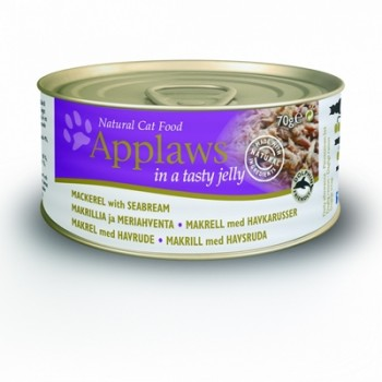 Applaws / Эпплаус Кусочки в желе для кошек со Скумбрией и Морским окунем 0,07 кг