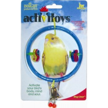 JW Игрушка д/птиц - Кольцо с колокольчиком, пластик, Ring Clear Toy for birds (31051)