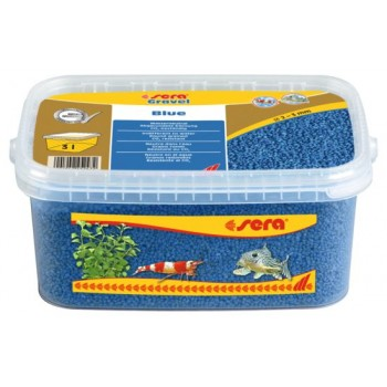 Sera / Сера грунт для аквариума Gravel Blue (Голубой) 2-3 мм. 3 л.