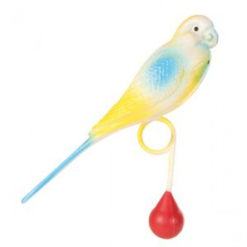 Trixie / Трикси Игрушка д/птиц Пластиковый попугай с кольцом для жердочки 15см 5312