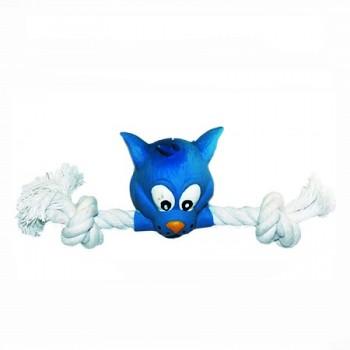 """Ziver / Зивер Игрушка """"Кот с канатом голубой"""", 20 см"""