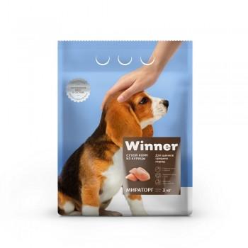 Winner / Виннер Корм сухой полнорационный для Щенков Средних пород из Курицы, 3 кг