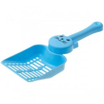 """ZooOne Совок с отверстиями для кошачьего туалета """"Кэт"""" 24,5*9,2*4,5 см (синий)"""