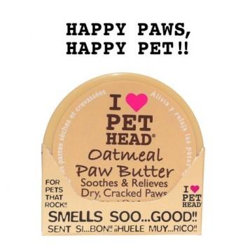 Pet Head Масло для потрескавшихся Лап с маслами ши, овсянки, жожоба, кокоса, оливок и алоэ вера (OATMEAL Natural Paw Butter)
