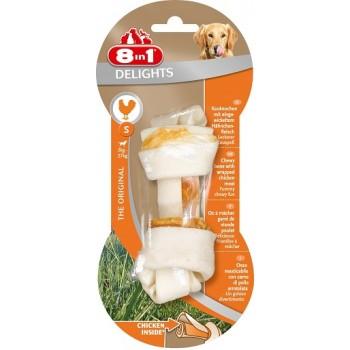 8in1 Delights S косточка с куриным мясом для мелких и средних собак 11 см