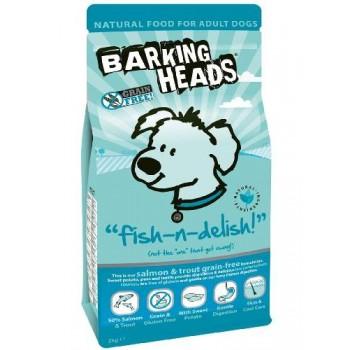 """Barking Heads / Баркинг Хедс Для Собак с Лососем, форелью и бататом """"Рыбка-вкусняшка"""", 2 кг"""