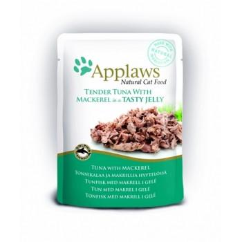 "Applaws / Эпплаус паучи для кошек ""Кусочки тунца со Скумбрией в желе"" 0,07 кг"