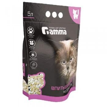 Gamma / Гамма Наполнитель для кошачьих туалетов Gamma 5л, впитывающий