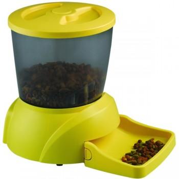 Feedex / Фидекс Автокормушка на 2 кг корма для кошек и мелких пород собак желтая