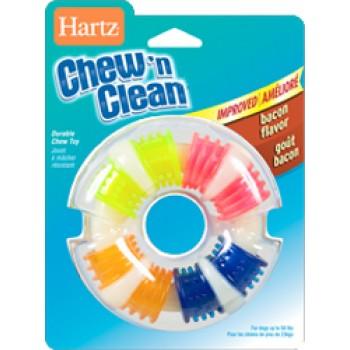 Hartz / Хартц Игрушка д/собак - Кольцо для очищения зубов и массажа десен, вкус бекона Chew'n Clean Teethingring Dog Toy