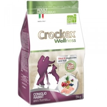 CROCKEX / КРОКЕКС Wellness сухой корм для собак средних и крупных пород 3 кг кролик с рисом MCF3603