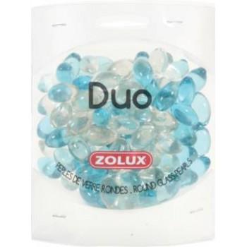 """Zolux / Золюкс Украшения для аквариума стеклянные """"Дуо"""" (голубой и прозрачный), 472 г"""