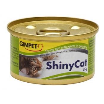 Gimpet / Гимпет Консервы Shiny Cat с тунцом и травкой д/кошек, 85г