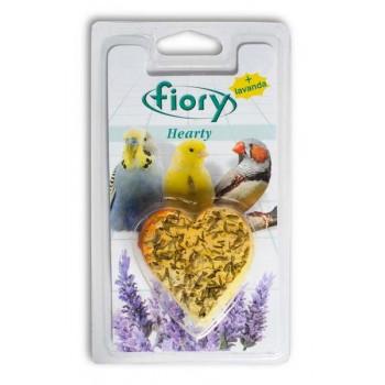 Fiory / Фиори био-камень для птиц Hearty с лавандой в форме сердца 45 г