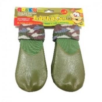 БАРБОСки носки д/собак, высокое латексное покрытие, цвет - зеленый размер - 4