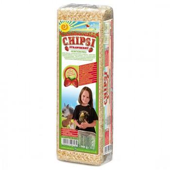 Наполнитель Chipsi Strawberry Клубника д/грызунов 15л.*1кг Древесный ароматизированный