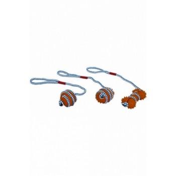 """Papillon / Папиллон Игрушка для собак """"Мяч на веревке"""", латекс, 46см"""