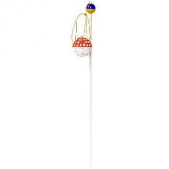Зооник Удочка 50 см с сетчатым мячиком