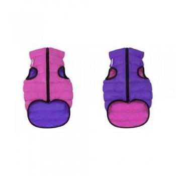 AiryVest / ЭйриВест курточка двухсторонняя, размер S 35, розово-фиолетовая