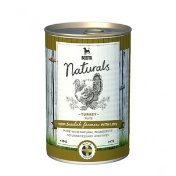 Bozita / Бозита 5142 Naturals кон.д/собак паштет с Индейкой 410г