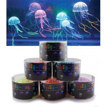 Jelly-Fish / Джелли-Фиш Медузы силиконовые с неоновым эффектом, средние, D=7,5 cм, круглая коробка