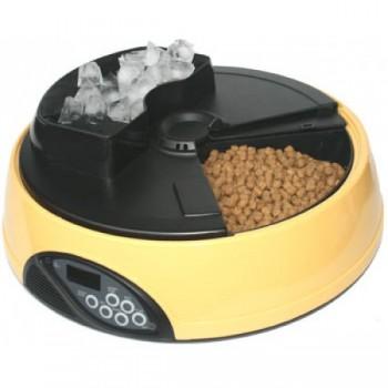 Feedex / Фидекс Автокормушка на 4 кормления для сух.корма и консерв, с емкостью для льда Желтая PF1Y
