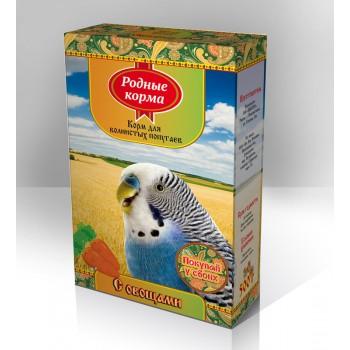 Родные корма Корм для волнистых попугаев 500 г с овощами 1х14 3055