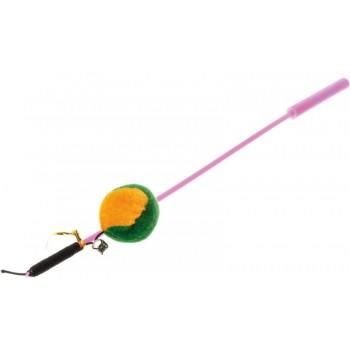 V.I.Pet Игрушка для кошки Дразнилка удочка с игрушкой `Мяч` /12/ ST-107