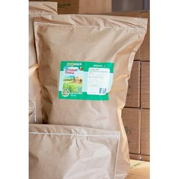 `Луговые травы` корм для кроликов, морских свинок, шиншилл, дегу и др. грызунов 15 кг 653 (Зоомир)