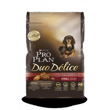 "Pro Plan / Про План ""Duo Delice"" сухой для собак мелких и карликовых пород Лосось с Рисом 700 гр"
