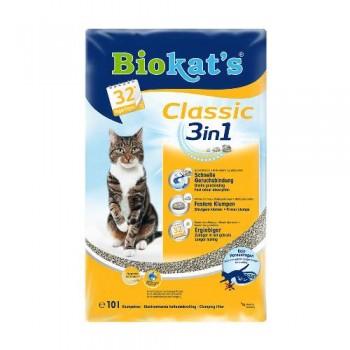 """Biokat's / БиоКэтс наполнитель """"Биокатс Классик 3 в 1"""" д/туалета д/кошек, 10 л"""