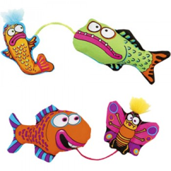 "Fat Cat Игрушка д/кошек - ""Рыбка с наживкой"", мягкая,, Gill Friends Cat Toy (650534)"
