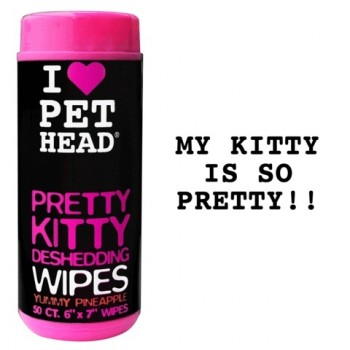"""Pet Head Салфетки гипоаллергенные """"Вкусный Ананас"""" от линьки у кошек, без сульфатов и парабенов, 50 шт. (PRETTY KITTY)"""