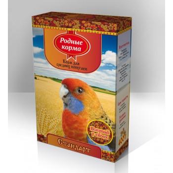 Родный корма Корм для средних попугаев 400 г стандарт 1х14 3086