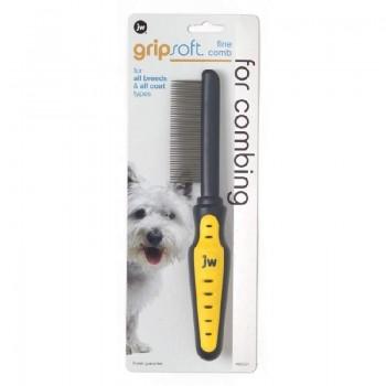 JW Расческа для собак, с частыми зубьями Grip Soft Dog Fine Comb (65021)