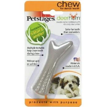 Petstages / Петстейджес игрушка для собак Deerhorn, с оленьими рогами 9 см очень маленькая