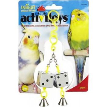 JW Игрушка д/птиц - Кубики зеркальные с колокольчиками, пластик, Dice Toy for birds (31030)