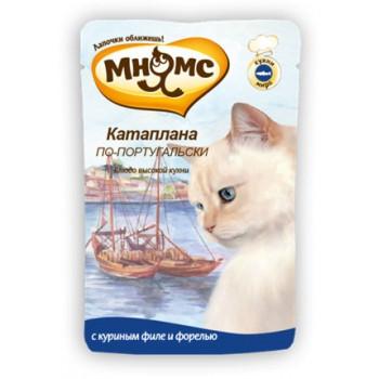 Мнямс паучи для кошек Катаплана по-португальски (с форелью) 85 г.