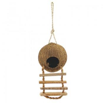 Triol / Триол CN02 Домик для птиц из кокоса с лестницей, 100-130/450мм